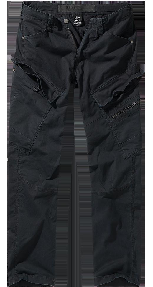 pantaloni slim fit brandit nero